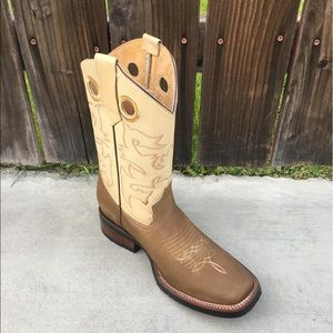 Men's Rodeo boots genuine cowhide leather